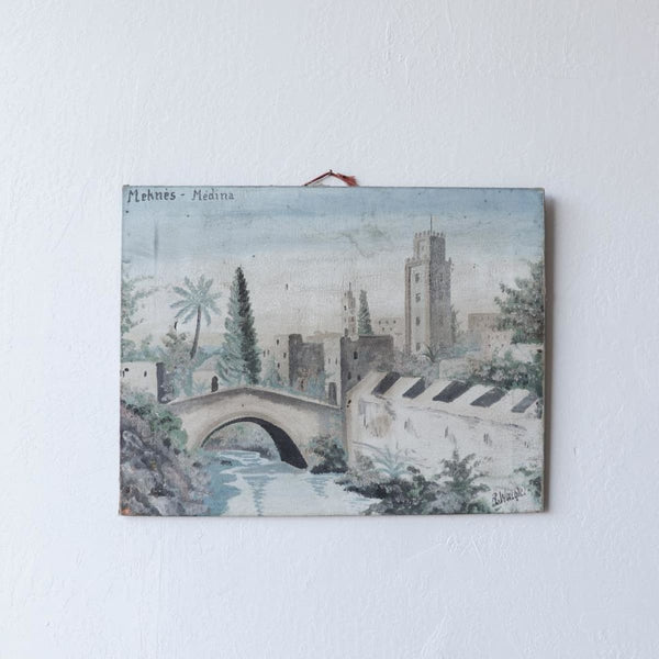 River Bridge Oil Painting - decor