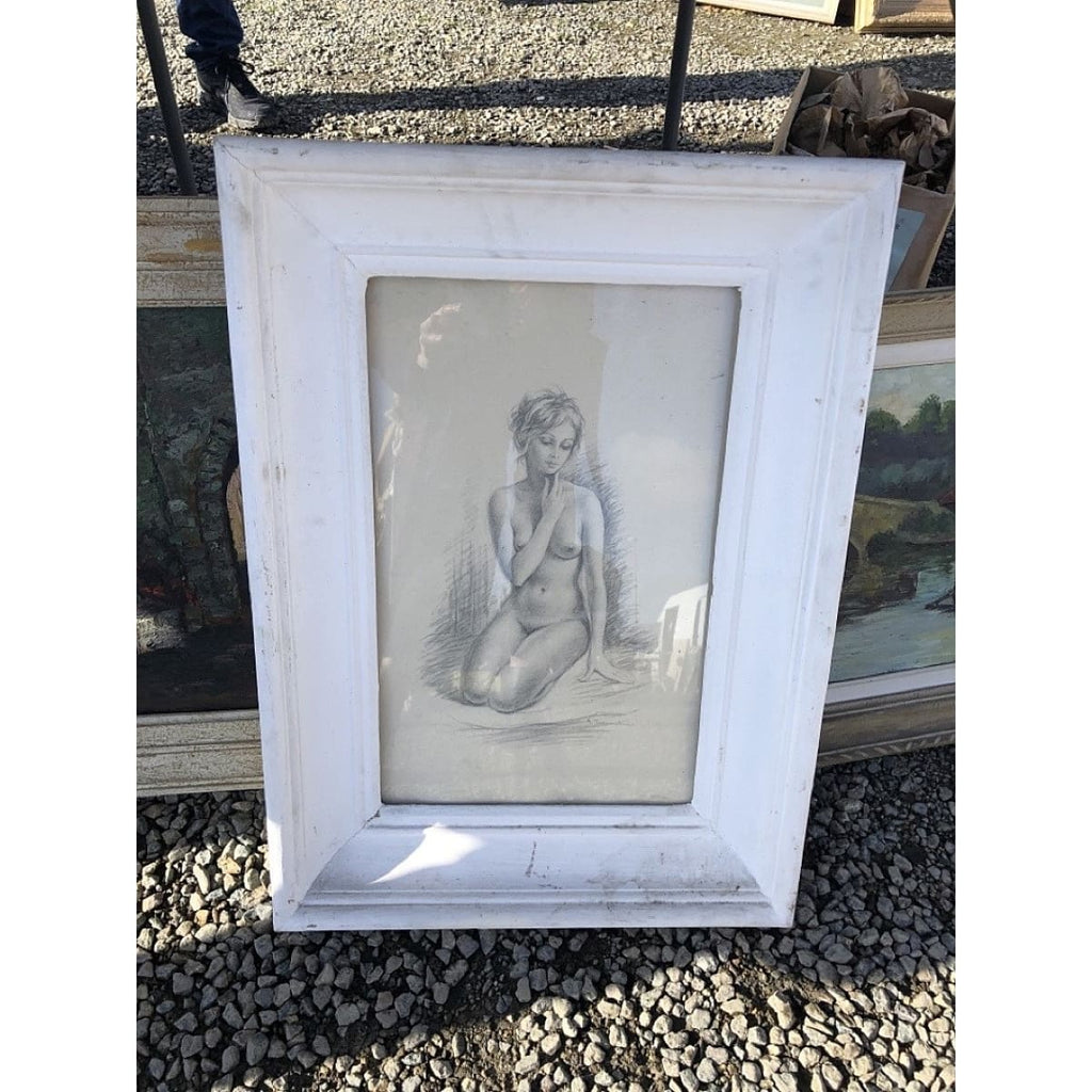 Seated Nude in Pencil - Decor