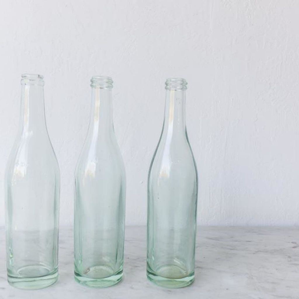 Set of 5 Glass Bottles - the french kitchen