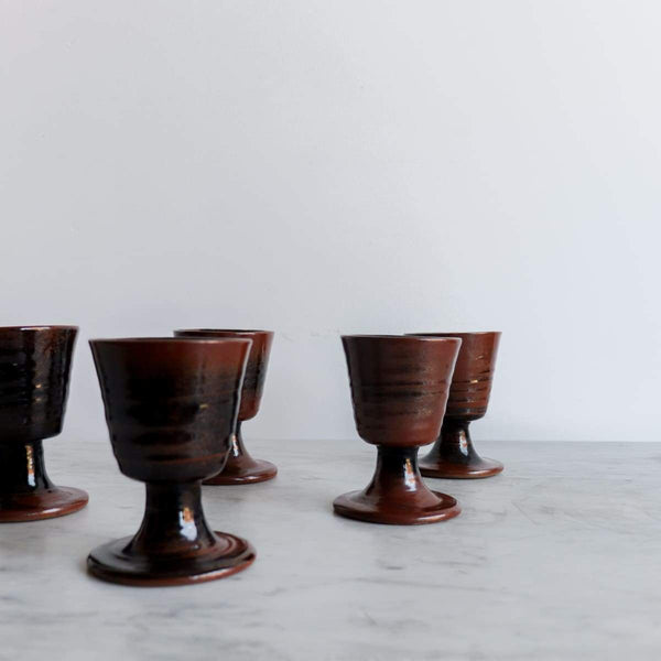 Set of 5 Stoneware Tumblers | Fontgambault Abbey - the french kitchen