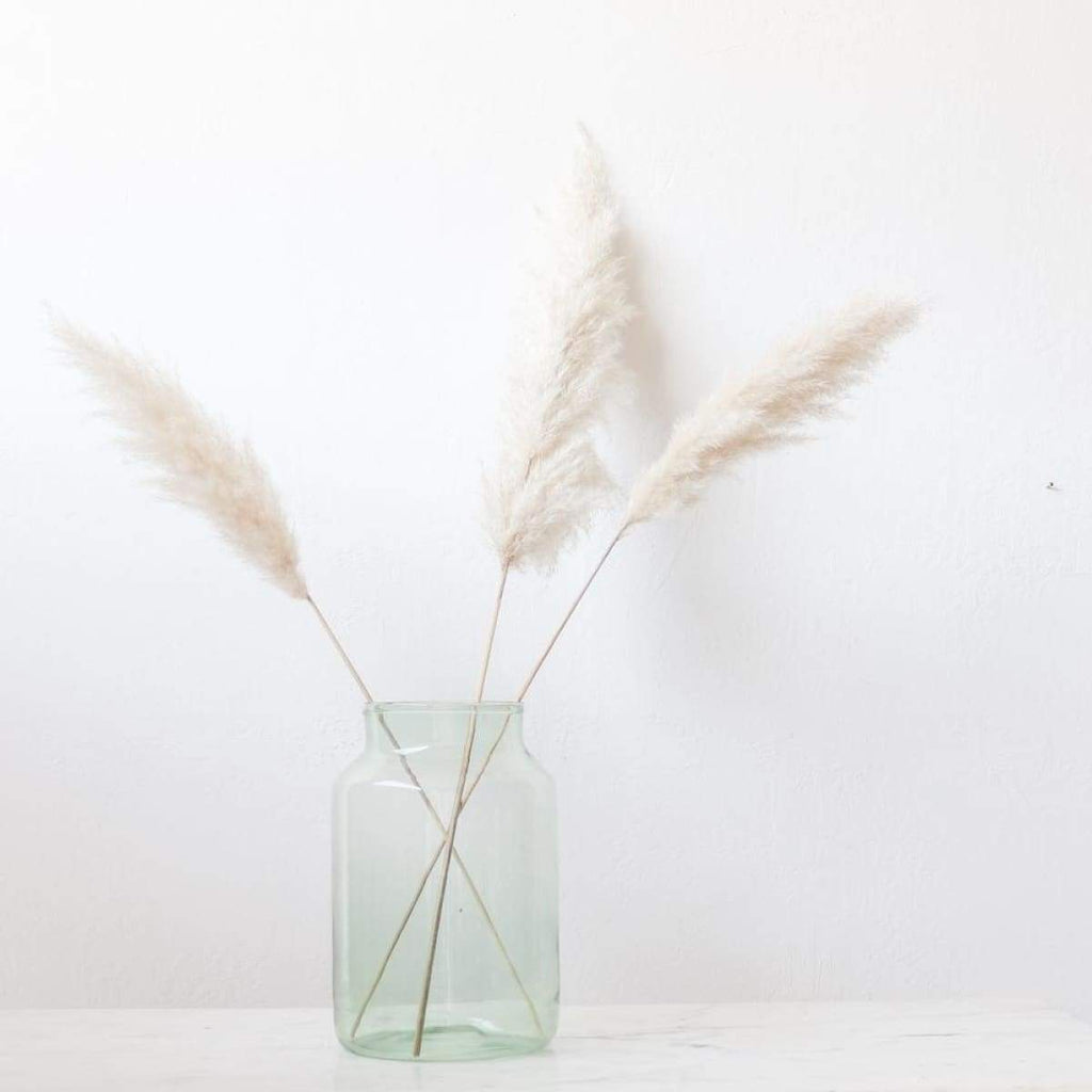 Tall Narrow Blown Glass Pickling Jar - decor