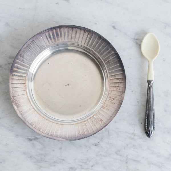 Silver Platter with Bone Spoon - the french kitchen