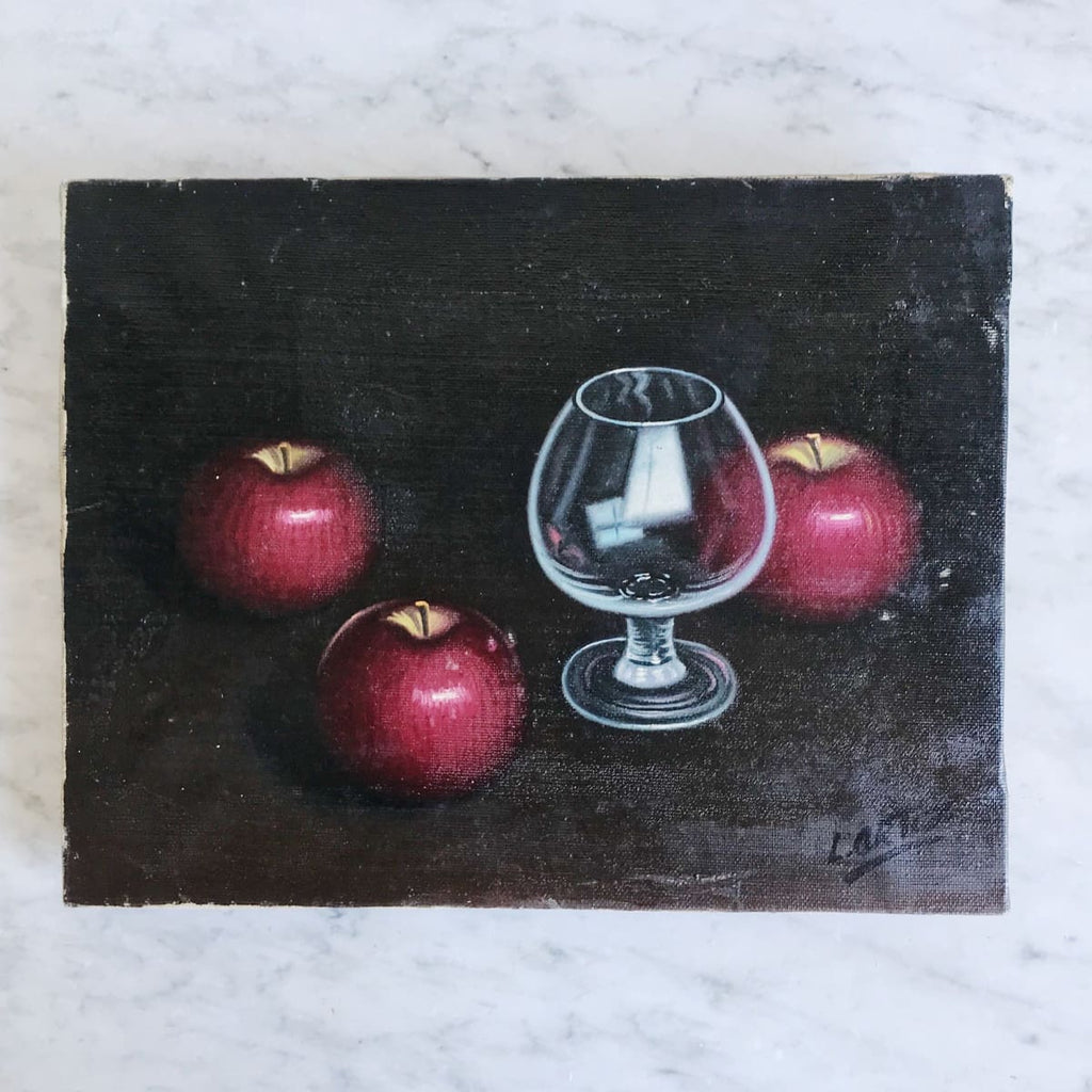 Still Life with Apples Oil Painting - Decor