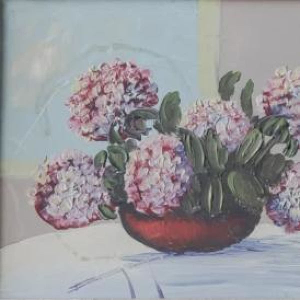 Still Life with Hydrangeas Oil Painting - decor