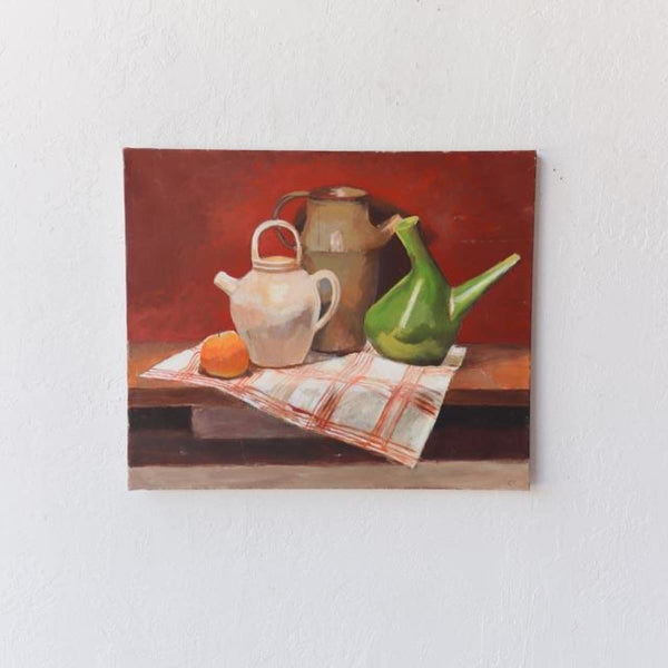 Still Life with Stoneware Vessels Oil Painting - decor