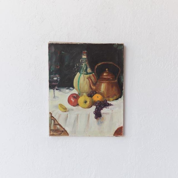 Still Life with Tea Kettle Oil Painting - decor