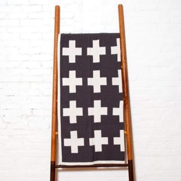 swiss cross throw - textiles