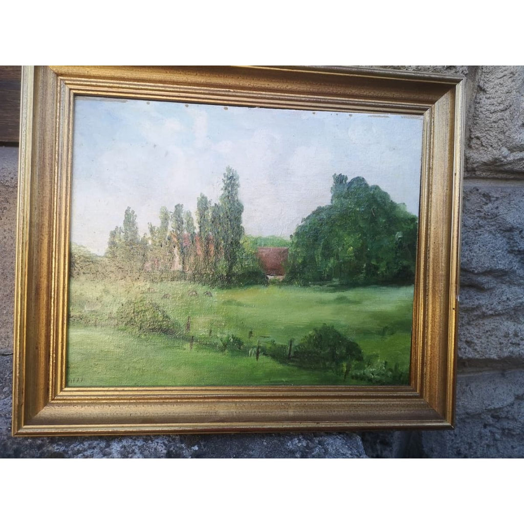 The field in Auvergne Oil painting - Décor