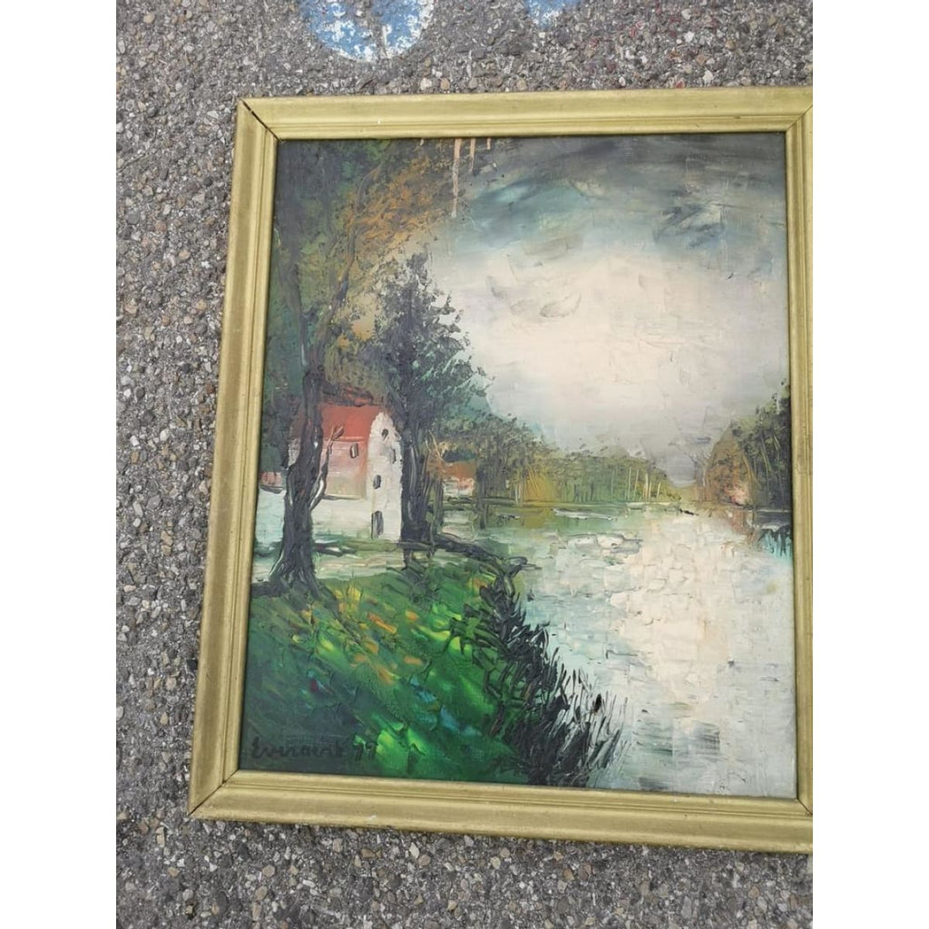 The House on the Pond Oil Painting - Décor