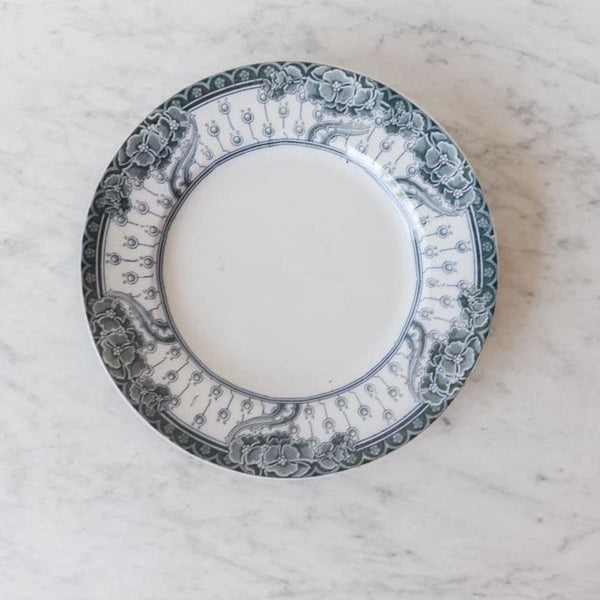 Transferware Platter with Flowers - The French Kitchen
