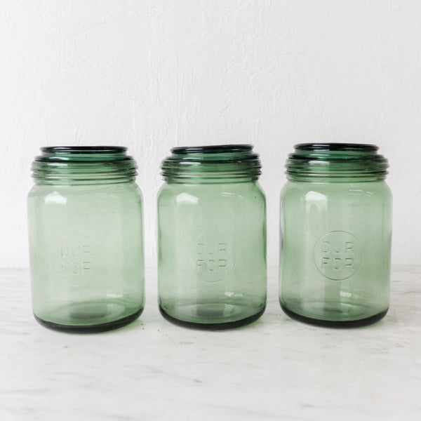 Trio of Vintage Durfor Canning Jars - The French Kitchen