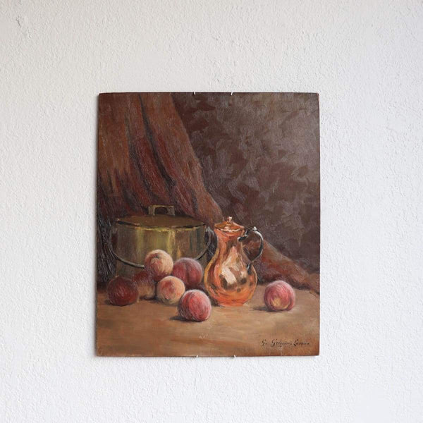 Two-Sided Still Life Oil Painting - elsie green