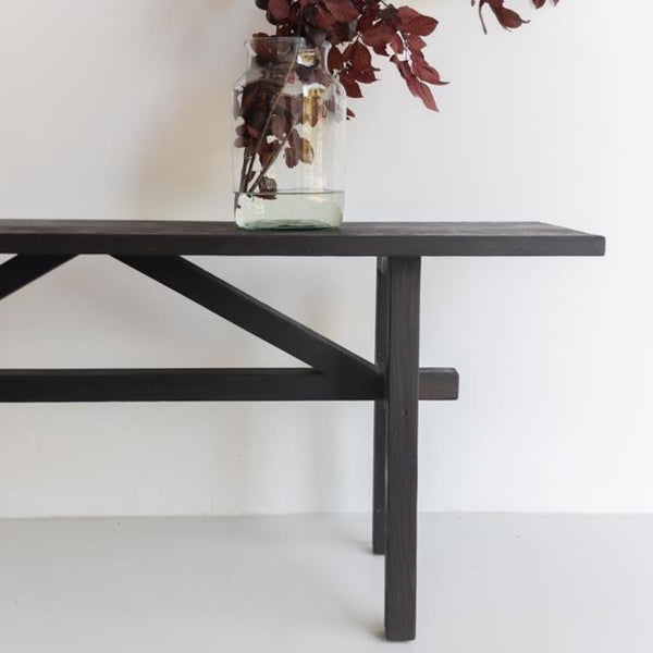 V-Brace Reclaimed Wood Console - Furniture