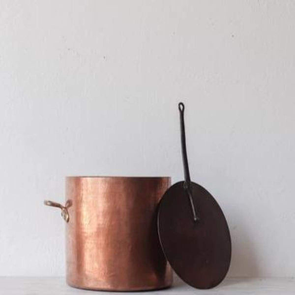 Very Large Copper Stock Pot - the french kitchen