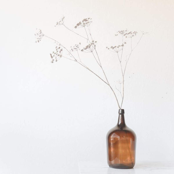 Vintage Amber Oil Bottle - decor