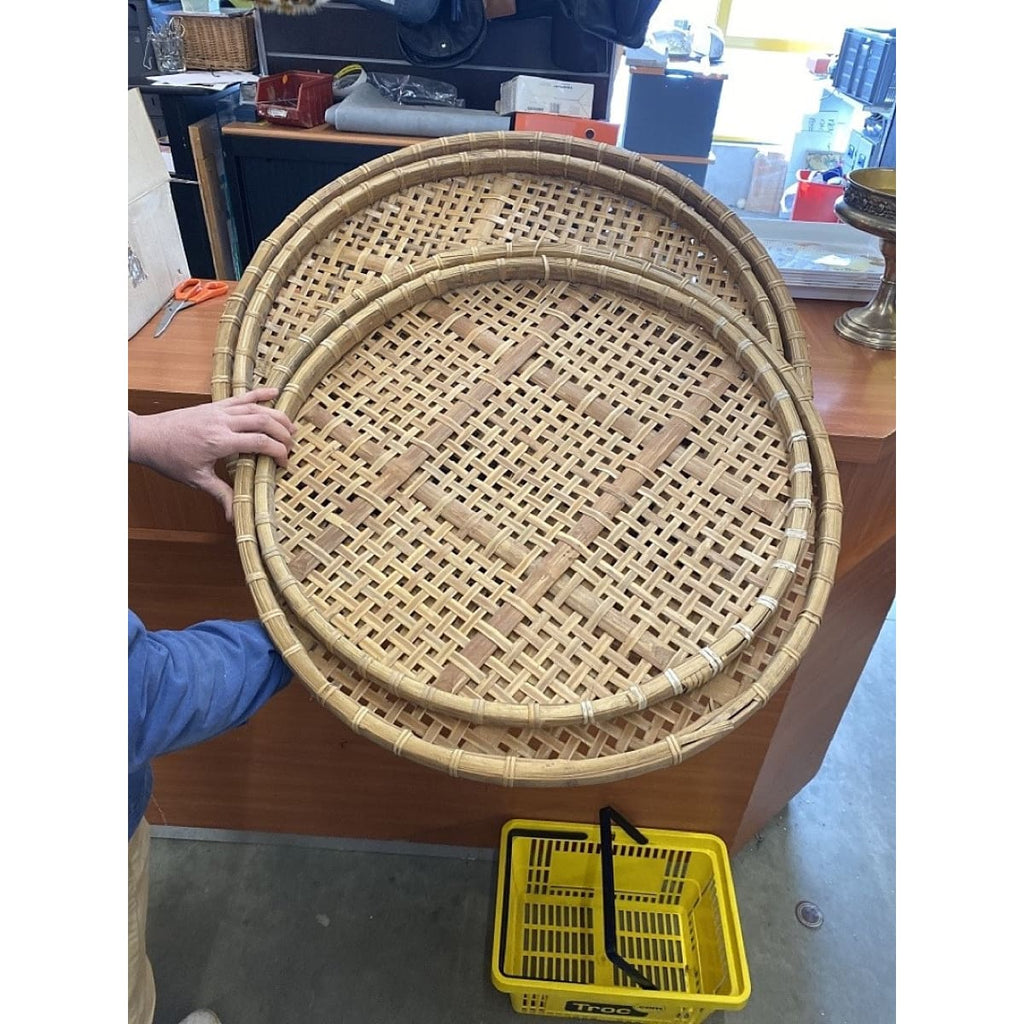 Vintage Bamboo Tray - Decor