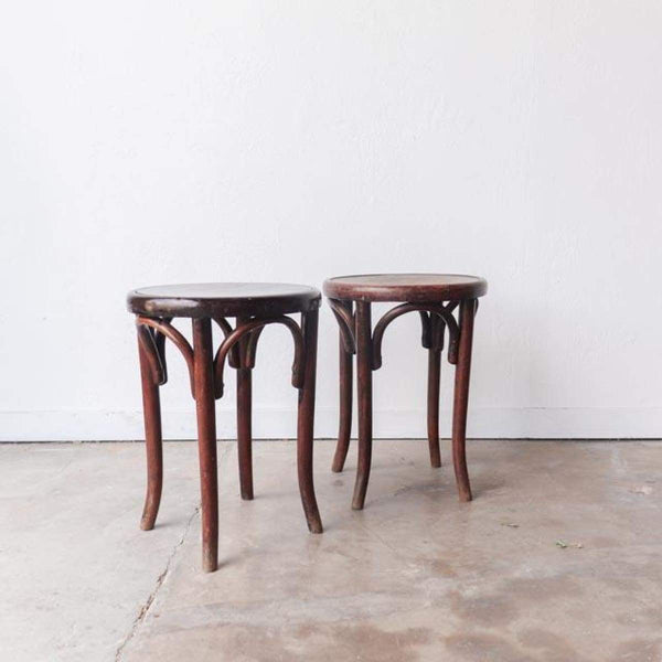 Vintage Bentwood Stool - Furniture