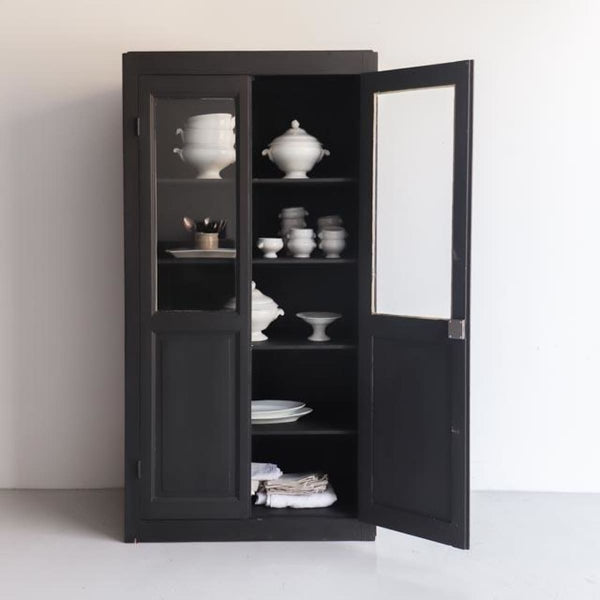 Vintage Black Vitrine - furniture