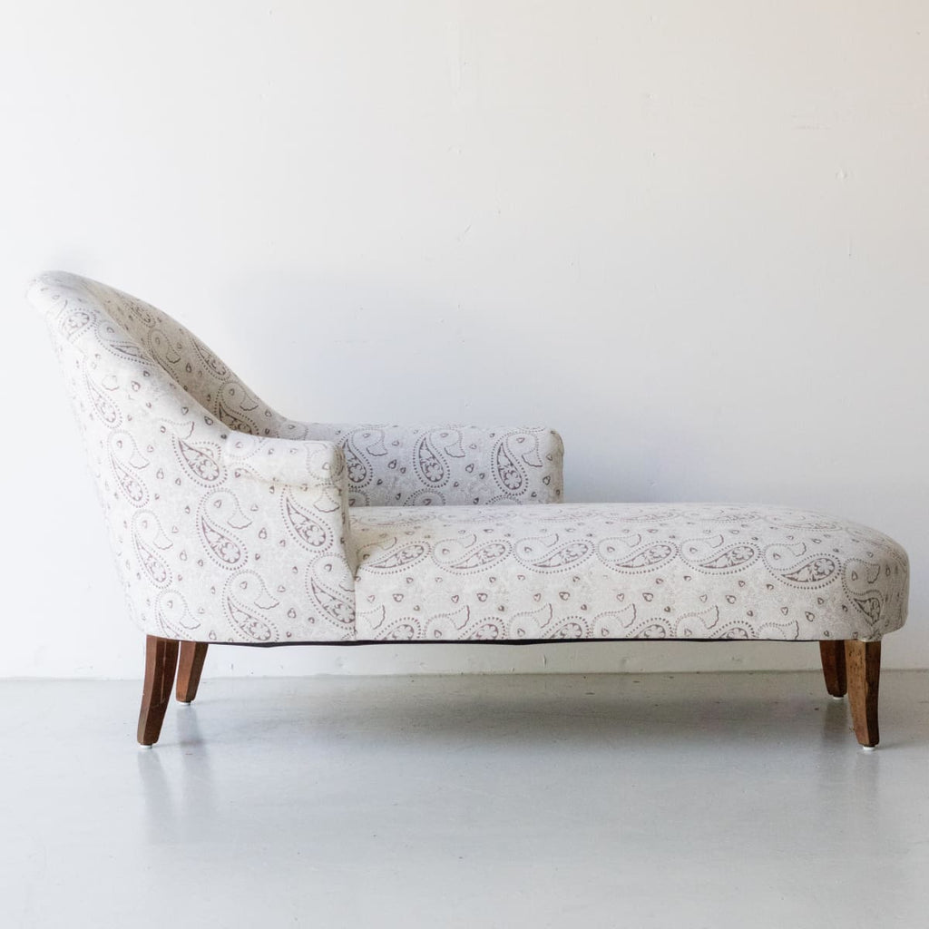 Vintage Block Print Chaise - furniture