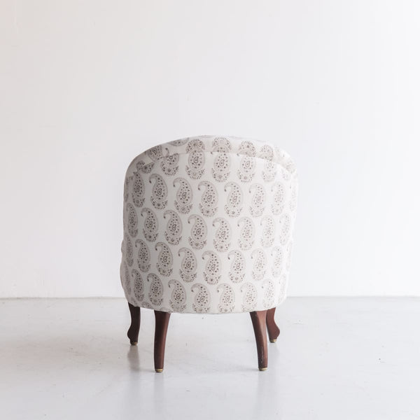 Vintage Block Print Crapaud Chair - furniture