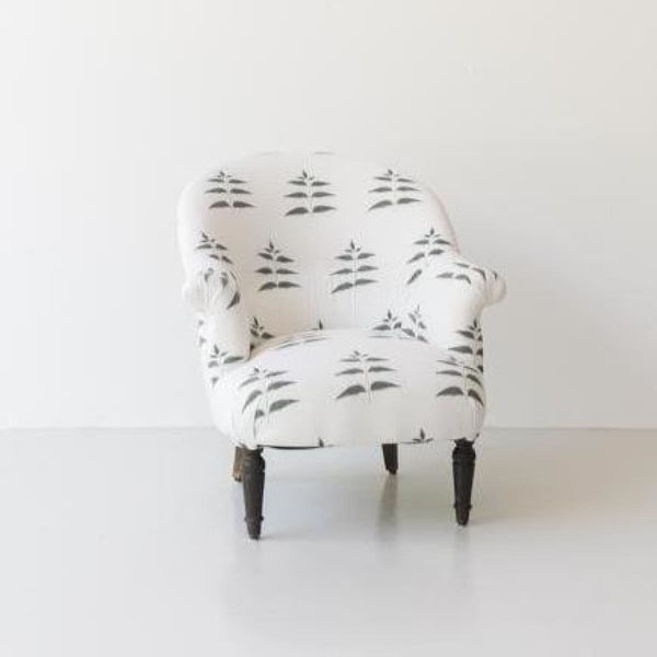 Copy of Vintage Block Print Crapaud Chair - furniture