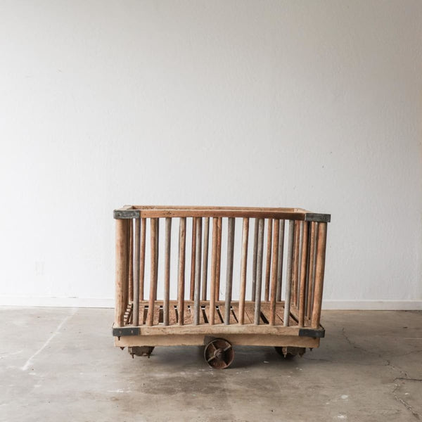 Vintage Factory Cart - decor