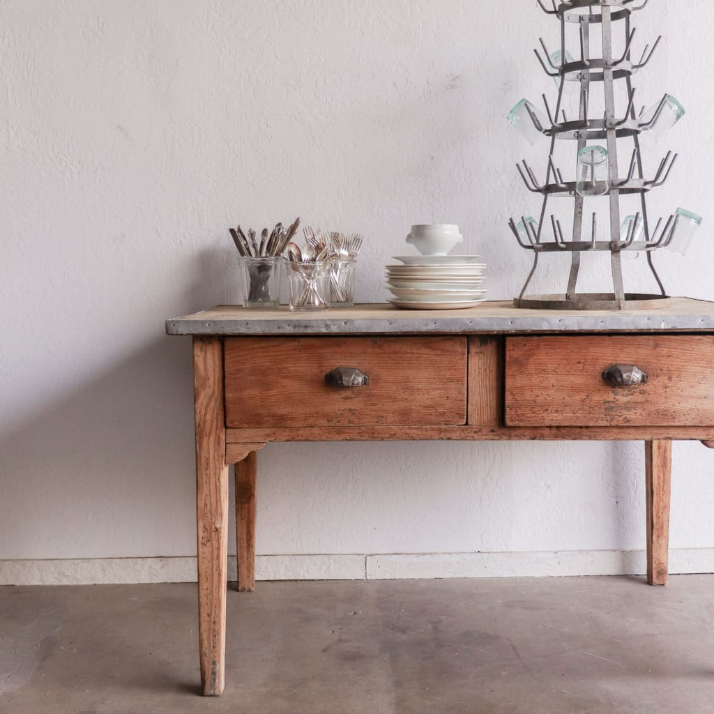Vintage Farm Table - furniture