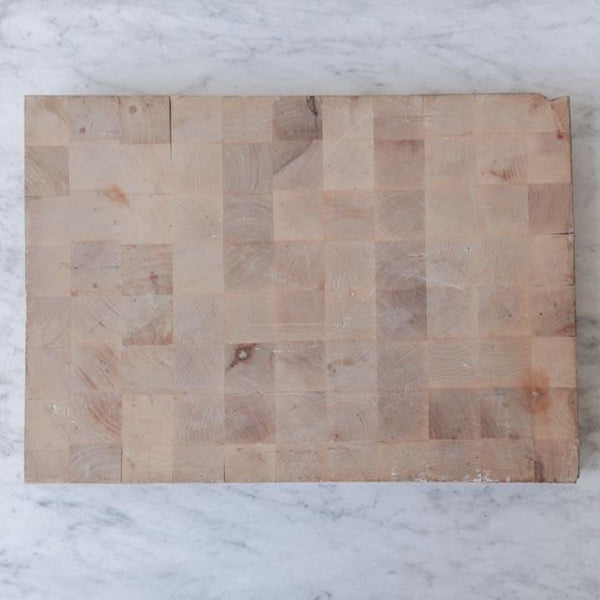 Vintage French End Grain Bread Board - the french kitchen