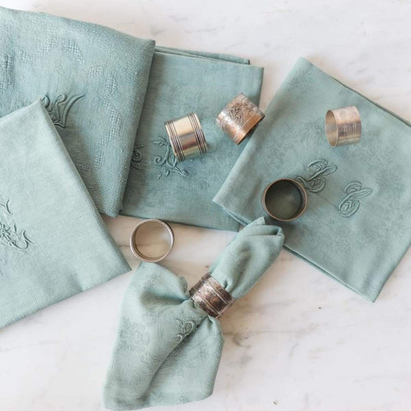 Vintage Over-dyed Napkin set of 4 - the french kitchen