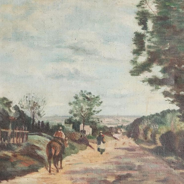 Vintage Path on Horseback Oil Painting - decor