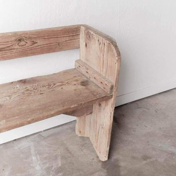 Low Pine Bench - furniture