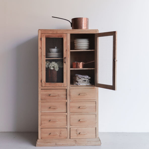 Vintage Pine Kitchen Cabinet - furniture