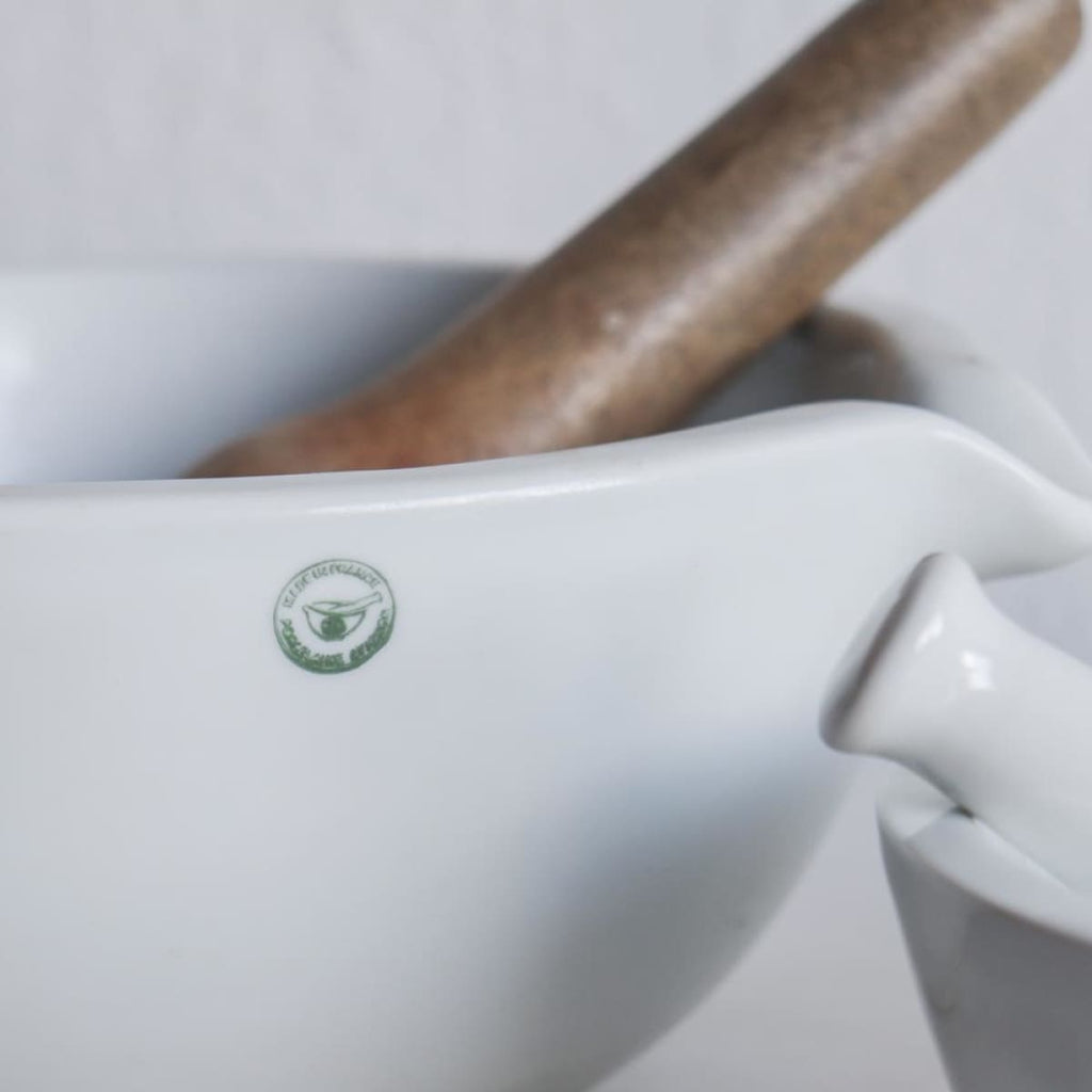 Vintage Porcelain Mortar - the french kitchen
