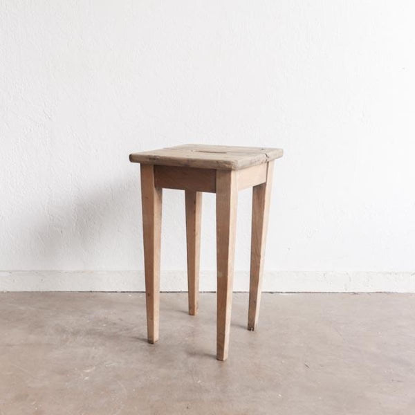 Vintage Raw Wood Stool - furniture