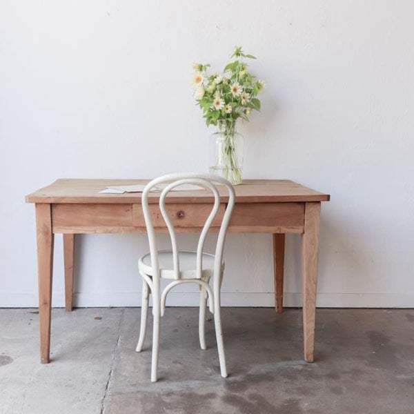 Vintage Raw Wood Table - furniture