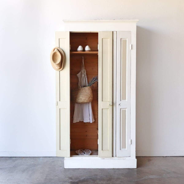 Vintage Shutter Armoire - furniture