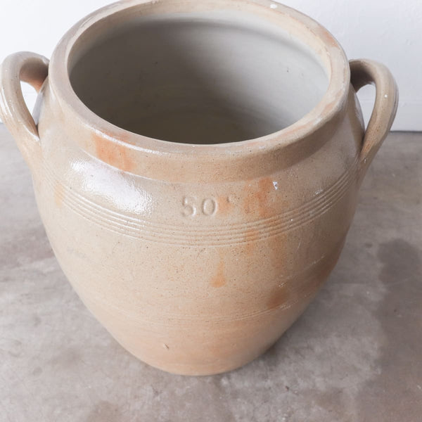 Vintage Stamped Stoneware Vessel - the french kitchen