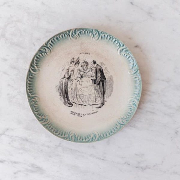 Vintage Transferware Plate - Asperges - The French Kitchen