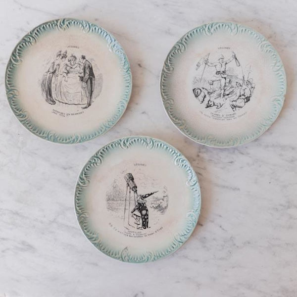 Vintage Transferware Plate - The French Kitchen