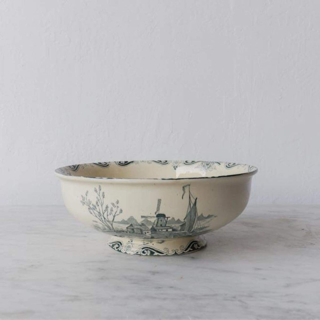 Vintage Transferware Serving Bowl - the french kitchen