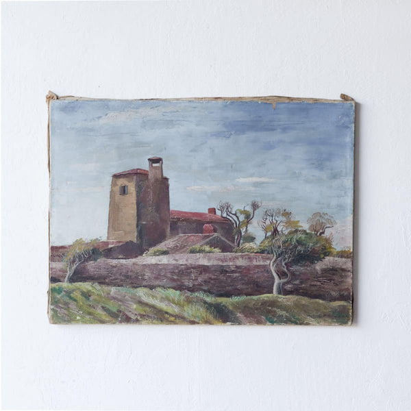 Walled Chateau Oil Painting - decor