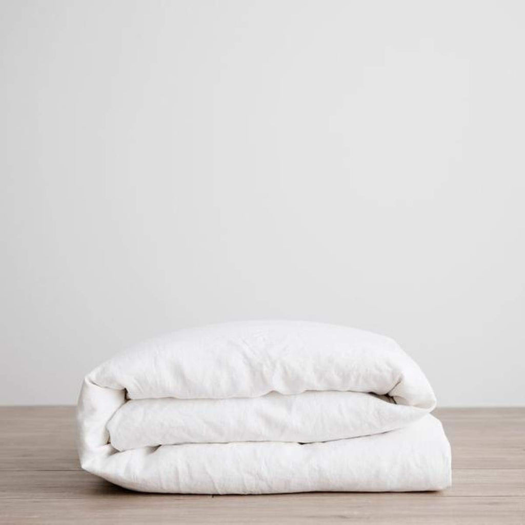 Washed Linen Duvet - elsie green