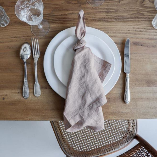 Washed Linen Napkin Set of 4 - FAWN - textiles