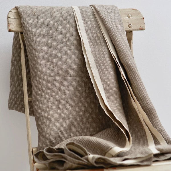 Washed Waffle Throw Natural - Textiles