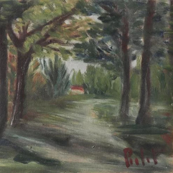Wooded Path Oil Painting - decor