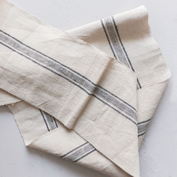Yard of Chanvre with Navy Stripe - Textiles