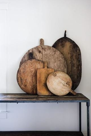Decorating with Vintage Bread Boards