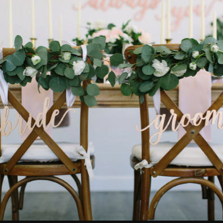 Bride + Groom Chair Signs
