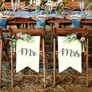 Mr & Mrs Chair Signs (UNAVAILABLE)