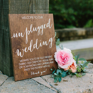 Unplugged Ceremony Sign (11x15)